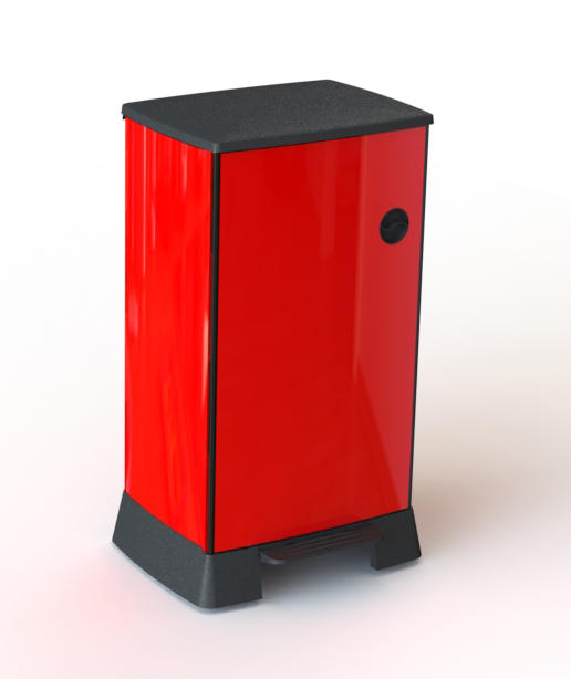 The trash can ANDRELLE red